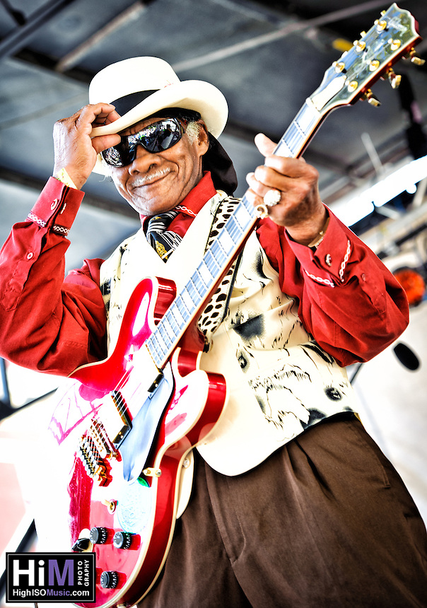 Little Freddie King and his band playing at the 2011 Blues and BBQ Festival in New Orleans, LA.