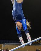 The University of Michigan women's gymnastics team beat Iowa, 196.675-195.200, at Crisler Center in Ann Arbor, Mich., on February 2, 2013.