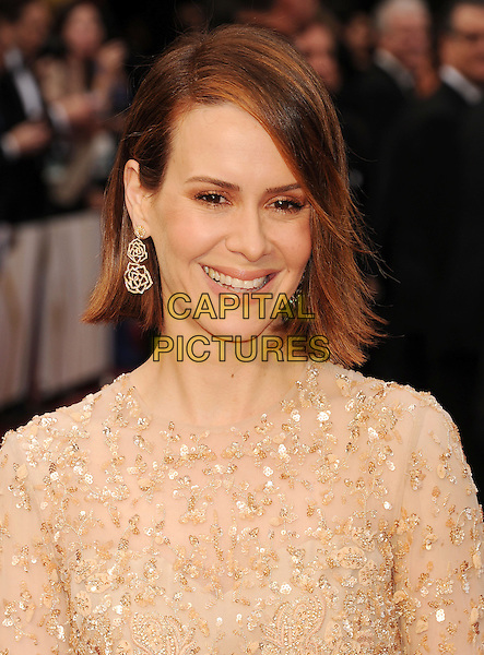 HOLLYWOOD, CA- MARCH 02: Actress Sarah Paulson attends the 86th Annual Academy Awards held at Hollywood &amp; Highland Center on March 2, 2014 in Hollywood, California.<br /> CAP/ROT/TM<br /> &copy;Tony Michaels/Roth Stock/Capital Pictures