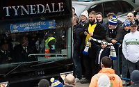 A young Leeds United fan waits for the team coach to arrive<br /> <br /> Photographer Chris Vaughan/CameraSport<br /> <br /> The EFL Sky Bet Championship - Leeds United v Sheffield Wednesday - Saturday 11th January 2020 - Elland Road - Leeds<br /> <br /> World Copyright © 2020 CameraSport. All rights reserved. 43 Linden Ave. Countesthorpe. Leicester. England. LE8 5PG - Tel: +44 (0) 116 277 4147 - admin@camerasport.com - www.camerasport.com