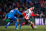 Aritz Aduriz Zubeldia of Athletic Club de Bilbao (R) fights for the ball with Juan Torres Ruiz, Cala, of Getafe CF during the La Liga 2017-18 match between Getafe CF and Athletic Club at Coliseum Alfonso Perez on 19 January 2018 in Madrid, Spain. Photo by Diego Gonzalez / Power Sport Images