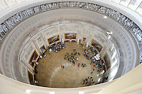 The Rotunda of the US Capitol is seen from one of the upper levels of the newly-restored Capitol Dome in Washington, DC, November 15, 2016.<br /> Credit: Olivier Douliery / Pool via CNP /MediaPunch