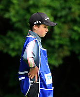 Damien McGrane (IRL) caddy (Jack) during Round 1 of the Northern Ireland Open at Galgorm Golf Club, Ballymena Co. Antrim. 10/08/2017<br /> Picture: Golffile | Thos Caffrey<br /> <br /> <br /> All photo usage must carry mandatory copyright credit (&copy; Golffile | Thos Caffrey)