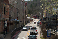 NWA Democrat-Gazette/BEN GOFF @NWABENGOFF<br /> A view of downtown Wednesday, April 11, 2018, in Eureka Springs.