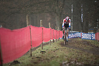 Mathieu Van der Poel (NED/Beobank-Corendon) in control of the race<br /> <br /> 2016 CX UCI World Cup Zeven (DEU)