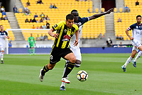 Wellington Phoenix&rsquo; Andrija Kaluderovic and Melbourne Victory&rsquo;s Thomas Deng in action during the A League - Wellington Phoenix v Melbourne Victory FC at Westpac Stadium, Wellington, New Zealand on Sunday 3 December.<br /> Photo by Masanori Udagawa. <br /> www.photowellington.photoshelter.com