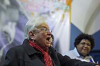 SÃO PAULO, SP, 11.06.2016 -ELEIÇÕES-2016 - Luiza Erundina (PSOL) durante pré-candidatura a prefeitura de São Paulo na sede do Sindicato dos Bancários de São Paulo (SP) neste sábado, 11. (Foto: Adailton Damasceno/Brazil Photo Press)