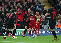 11th March 2020; Anfield, Liverpool, Merseyside, England; UEFA Champions League, Liverpool versus Atletico Madrid;  Mohammed Salah of Liverpool  runs at the Atletico Madrid defence