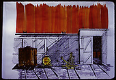 Drawing of Durango roundhouse.<br /> D&amp;RGW