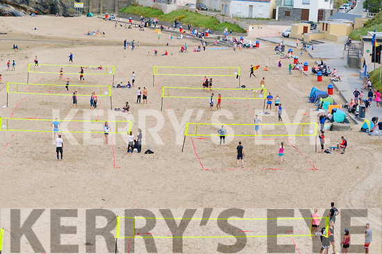 The first Beach Volleyball competition held in the beach in Ballybunion on Sunday last.