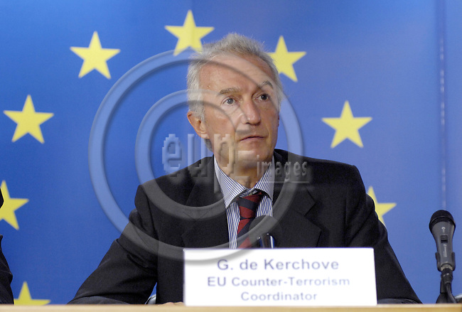 Brussels-Belgium - 11 September 2008---Gilles de KERCHOVE, EU Counter-Terrorism Coordinator, during a press conference on the EU-UN cooperation in the fight against terrorism---Photo: Horst Wagner/eup-images