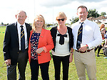 Club President Robbie McGrath his wife Maura, Adriene McCleery and Paul Redmond pictured at the Gathering at Boyne RFC. Photo:Colin Bell/pressphotos.ie