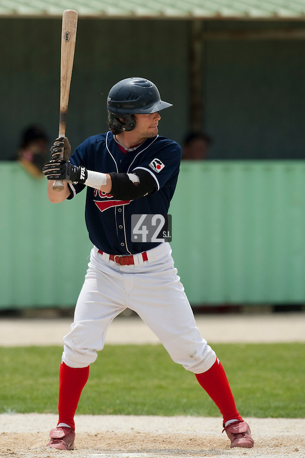 22 May 2009:  Gaetan Lepoupon of La Guerche is seen at bat during the 2009 challenge de France, a tournament with the best French baseball teams - all eight elite league clubs - to determine a spot in the European Cup next year, at Montpellier, France.