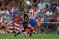 27.08.2012 SPAIN -  La Liga 12/13 Matchday 2th  match played between Atletico de Madrid vs Athletic Club de Bilbao (4-0) with hat-trick Radamel Falcao at Vicente Calderon stadium. The picture show