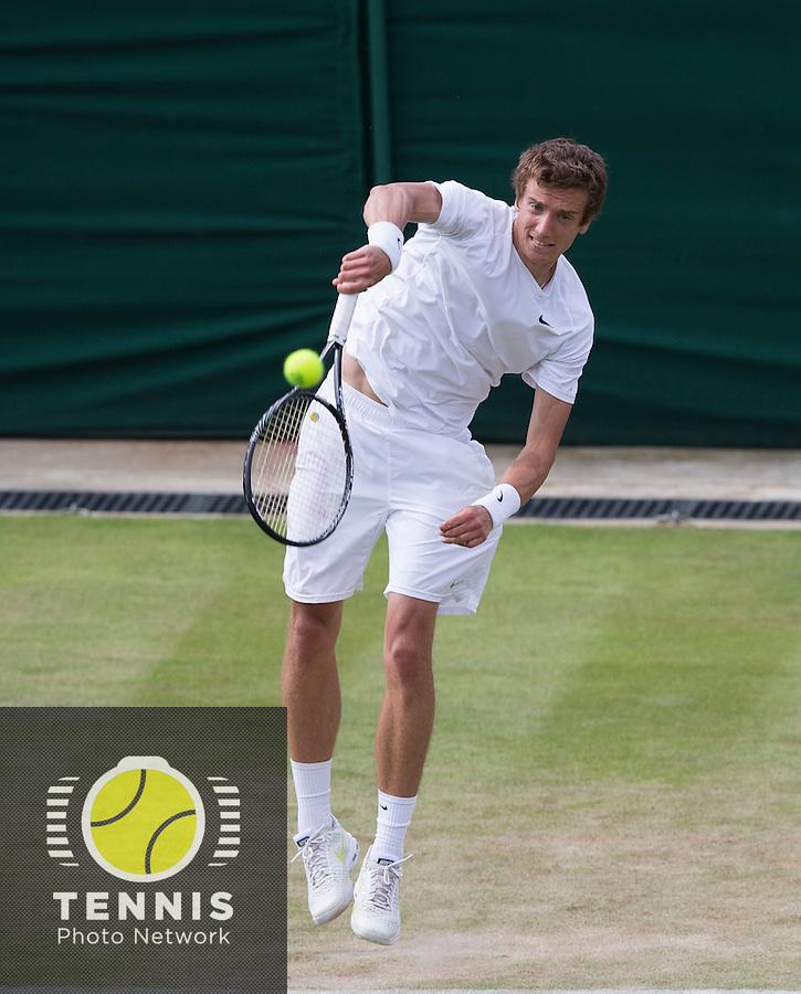 ANDREY KUZNETSOV (RUS)<br /> <br /> The Championships Wimbledon 2014 - The All England Lawn Tennis Club -  London - UK -  ATP - ITF - WTA-2014  - Grand Slam - Great Britain -  25th June 2014. <br /> <br /> © Tennis Photo Network
