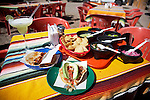 Meal of tacos at a restaurant in Los Algodones, B.C, Mexico.