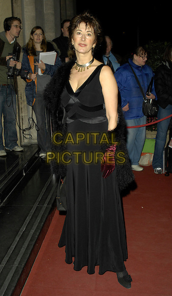 MAUREEN LIPMAN.Arrivals - Laurence Olivier Awards at the Grosvenor Hotel, Park Lane, London, UK..February 18th, 2007.full length black dress.CAP/CAN.©Can Nguyen/Capital Pictures