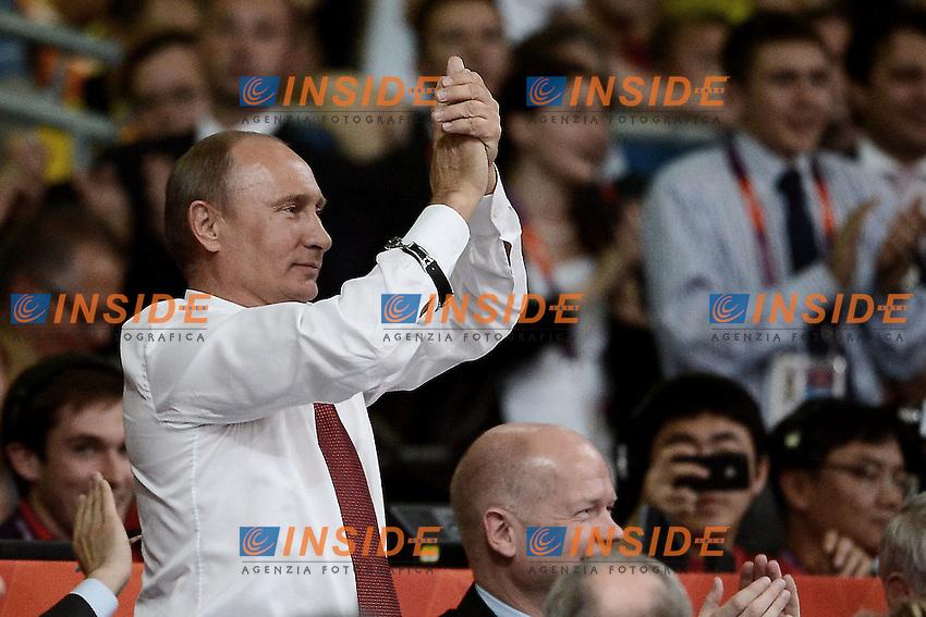 London 02/08/2012 Il presidente russo Vladimir Putin assiste alle competizioni di Judo..London 2012   ExCel Arena Olympic games - Olimpiadi Londra 2012.Judo .Foto  Anthony Bibard / Panoramic / Insidefoto.ITALY ONLY