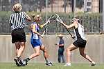 Los Angeles, CA 04/18/10 - Maggie Aker (UCSB # 9) and Maggie Burke (SCU #7)