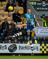 Paris Cowan-Hall of Wycombe Wanderers during the Sky Bet League 2 match between Notts County and Wycombe Wanderers at Meadow Lane, Nottingham, England on 10 December 2016. Photo by Andy Rowland.