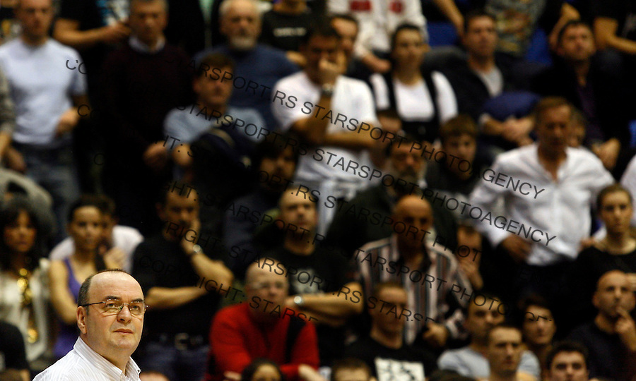 Kosarka, Euroleague, sezona 2009/2010.Partizan Vs. Maroussi (Athens).Head coach Dusko Vujosevic.Belgrade, 25.02.2010..foto: Srdjan Stevanovic/Starsportphoto ©