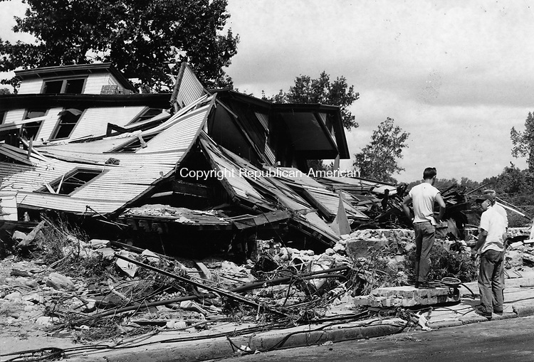 Wrecked dwelling at 479 North Main Street, Union City, Aug. 25, 1955.