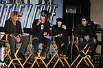 HOLLYWOOD, CA - MARCH 20: Vince Neil, Nikki Sixx, Mick Mars and Tommy Lee of Motley Crue attend the 'Kiss, Motley Crue: The Tour' Press Conference at Hollywood Roosevelt Hotel on March 20, 2012 in Hollywood, California.