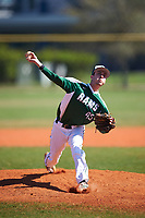 Farmingdale State Rams relief pitcher Ryan Mallon (45) delivers a pitch during the first game of a doubleheader against the FDU-Florham Devils on March 15, 2017 at Lake Myrtle Park in Auburndale, Florida.  Farmingdale defeated FDU-Florham 6-3.  (Mike Janes/Four Seam Images)