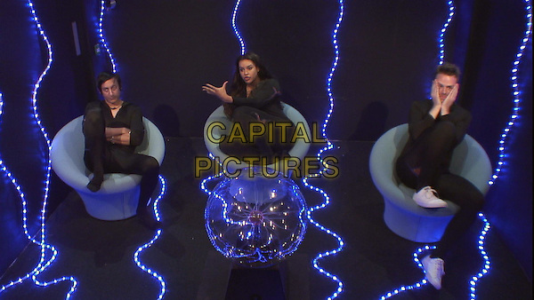 Celebrity Big Brother, Summer 2016, Day 15<br /> Chelsea, Lateysha and Andy.<br /> *Editorial Use Only*<br /> CAP/KFS<br /> Image supplied by Capital Pictures