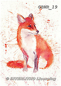 Simon, REALISTIC ANIMALS, REALISTISCHE TIERE, ANIMALES REALISTICOS, paintings+++++KatherineW_SplatterFox,GBWR19,#a#, EVERYDAY