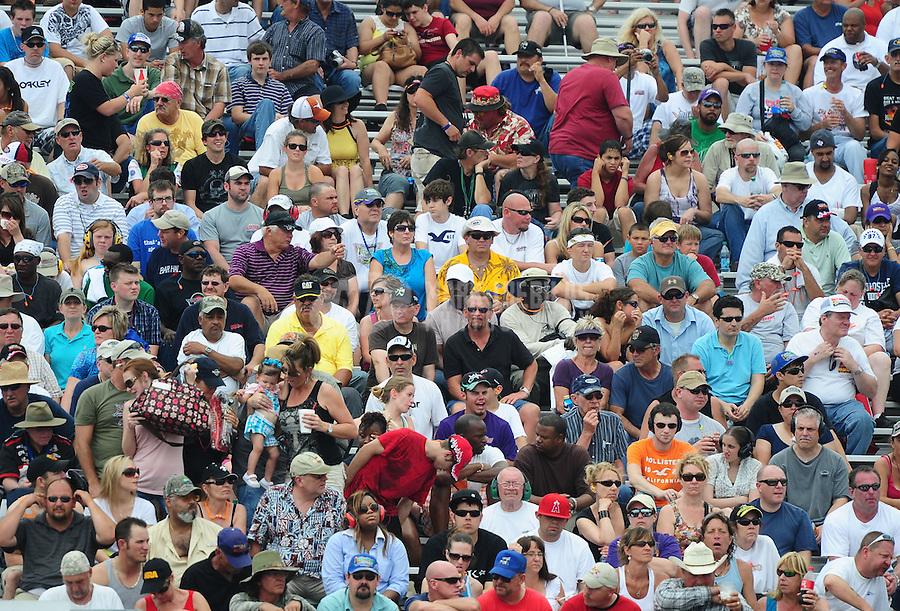 April 30, 2011; Baytown, TX, USA: NHRA fans in the grandstands during the Spring Nationals at Royal Purple Raceway. Mandatory Credit: Mark J. Rebilas-