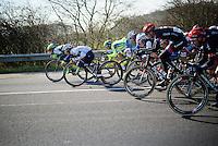 peloton speeding down the Hotond in Ronse<br /> <br /> Kuurne-Brussel-Kuurne 2016