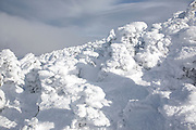 Appalachian Trail - Scenic views from the summit of Carter Dome in the White Mountains, New Hampshire USA during the winter months