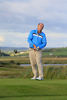 Joe Lyons (Galway) on the 13th tee during Round 2 of The South of Ireland in Lahinch Golf Club on Sunday 27th July 2014.<br /> Picture:  Thos Caffrey / www.golffile.ie