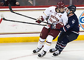 Chris Calnan (BC - 11), Wyatt Newpower (UConn - 20) - The Boston College Eagles defeated the visiting UConn Huskies 2-1 on Tuesday, January 24, 2017, at Kelley Rink in Conte Forum in Chestnut Hill, Massachusetts.