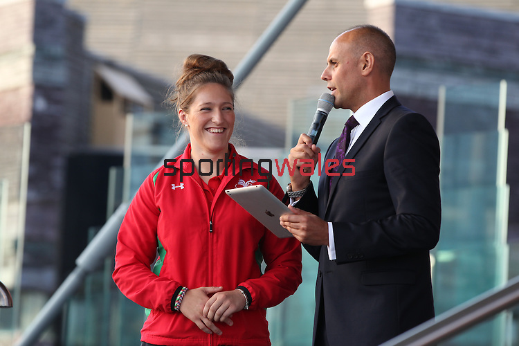 Glasgow 2014 Comonwealth Games<br /> Team Wales reception<br /> Jason Mohammad &amp; Natalie Powell.<br /> Senedd<br /> 10.09.14<br /> &copy;Steve Pope-SPORTINGWALES