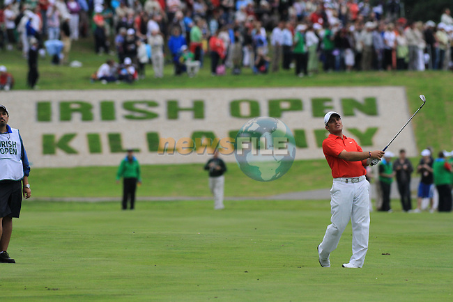 Francesco Molinari Playing the 18th on the final day of the 3 Irish Open, at the Killarney Golf and Fishing Club, Killarney, Ireland.Picture Fran Caffrey/www.golffile.ie.