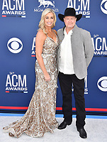 LAS VEGAS, CA - APRIL 07: Becca Lawrence (L) and Tracy Lawrence attend the 54th Academy Of Country Music Awards at MGM Grand Hotel &amp; Casino on April 07, 2019 in Las Vegas, Nevada.<br /> CAP/ROT/TM<br /> &copy;TM/ROT/Capital Pictures