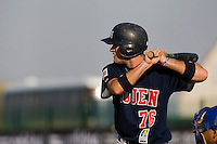 11 Oct 2008: Joris Bert is seen at bat during game 1 of the french championship finals between Templiers (Senart) and Huskies (Rouen) in Chartres, France. The Templiers win 5-2 over the Huskies