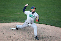 April 17 2010: Kyle Hurst of the Cedar Rapids Kernels at Elfstrom Stadium in Geneva, IL. The Kernels are the Low A affiliate of the Los Angeles Angels. Photo by: Chris Proctor/Four Seam Images