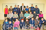 SOCCER BLITZ: The large group who took part in the Garda Soccer Blitz at the Rathooane Community Centre on Thursday..