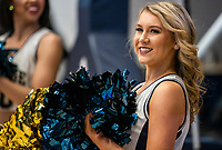 WASHINGTON, DC - FEBRUARY 22: George Washington cheerleader performs during a game between La Salle and George Washington at Charles E Smith Center on February 22, 2020 in Washington, DC.