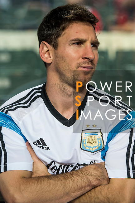 Lionel Messi of Argentina looks on during the HKFA Centennial Celebration Match between Hong Kong vs Argentina at the Hong Kong Stadium on 14th October 2014 in Hong Kong, China. Photo by Aitor Alcalde / Power Sport Images