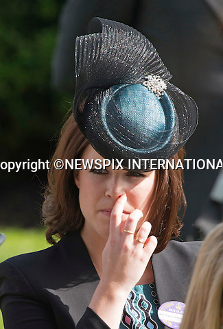 18.06.2015; Ascot, UK: ROYAL ASCOT LADIES DAY 2015 - PRINCESS EUGENIE<br /> attend Ladies Day of the Royal Ascot Race Meeting.<br /> Mandatory Photo Credit: &copy;Dias/NEWSPIX INTERNATIONAL<br /> <br /> **ALL FEES PAYABLE TO: &quot;NEWSPIX INTERNATIONAL&quot;**<br /> <br /> PHOTO CREDIT MANDATORY!!: NEWSPIX INTERNATIONAL(Failure to credit will incur a surcharge of 100% of reproduction fees)<br /> <br /> IMMEDIATE CONFIRMATION OF USAGE REQUIRED:<br /> Newspix International, 31 Chinnery Hill, Bishop's Stortford, ENGLAND CM23 3PS<br /> Tel:+441279 324672  ; Fax: +441279656877<br /> Mobile:  0777568 1153<br /> e-mail: info@newspixinternational.co.uk