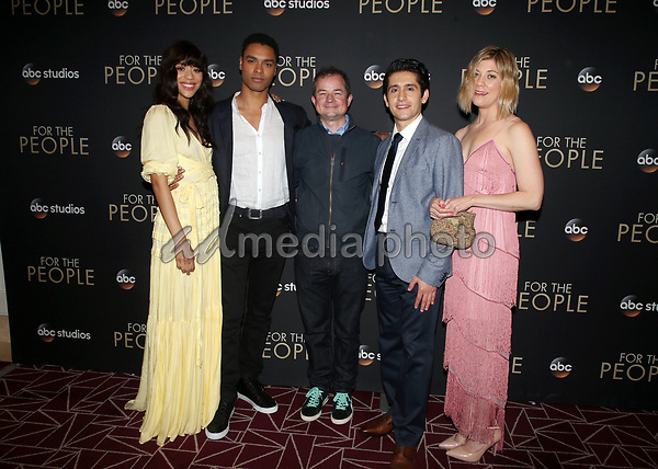 "10 March 2018-  West Hollywood, Jasmin Savoy Brown, Rege-Jean Page, Paul William Davies, Wesam Keesh, Susannah Flood. Premiere Of ABC's ""For The People"" held at The London West Hollywood. Photo Credit: Faye Sadou/AdMedia"