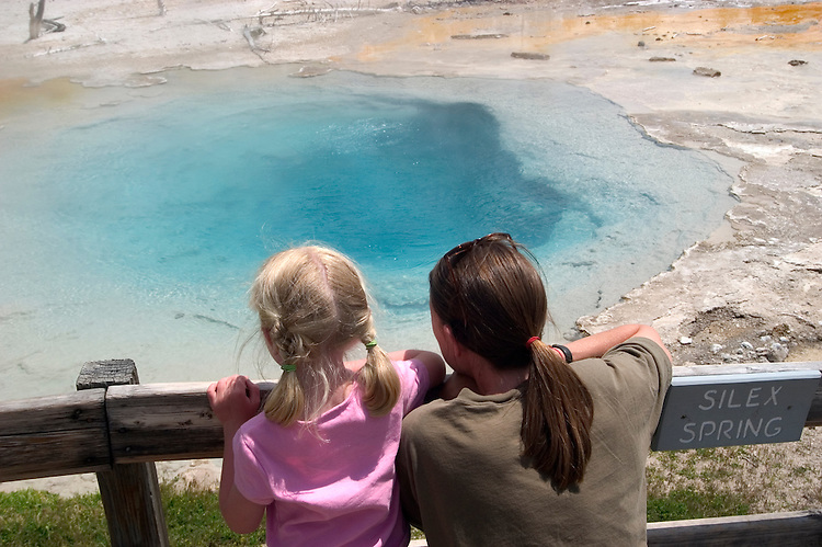 WY: Wyoming, Yellowstone National Park:.Silex Spring in Lower Geyser Basin..Photo #: yellow1124..Photo copyright Lee Foster, 510/549-2202, lee@fostertravel.com, www.fostertravel.com..