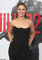 LOS ANGELES, CA - AUGUST 9: Ronda Rousey at the Mile 22 premiere at The Regency Village Theatre in Los Angeles, California on August 9, 2018. Credit: Faye Sadou/MediaPunch