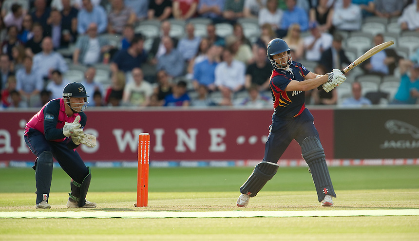 Essex Eagles' James Foster<br /> <br />  (Photo by Ashley Western/CameraSport) <br /> County Cricket - Friends Life t20 2013 - Middlesex v Essex - Thursday 04th July 2013 - Lord's, London <br /> <br />  &copy; CameraSport - 43 Linden Ave. Countesthorpe. Leicester. England. LE8 5PG - Tel: +44 (0) 116 277 4147 - admin@camerasport.com - www.camerasport.com
