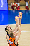 FC Barcelona Lassa's Aleksandar Vezenkov and Montakit Fuenlabrada's Rolands Smits  during the match of Endesa ACB League between Fuenlabrada Montakit and FC Barcelona Lassa at Fernando Martin Stadium in fuelnabrada,  Madrid, Spain. October 30, 2016. (ALTERPHOTOS/Rodrigo Jimenez)