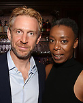 Paul Thornley and Noma Dumezweni attends The New York Drama Critics' Circle Awards at Feinstein's/54 Below on May 10, 2018 in New York City.